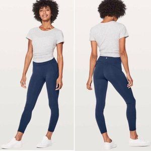Lululemon In Movement 7/8 Tight Mineral Blue 12
